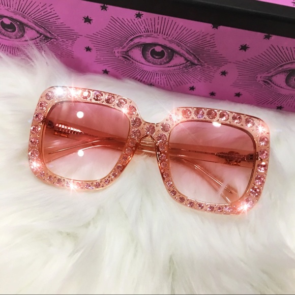 b7a63755d8afa Gucci Accessories - Authentic Gucci Oversize Pink Crystal Sunglasses